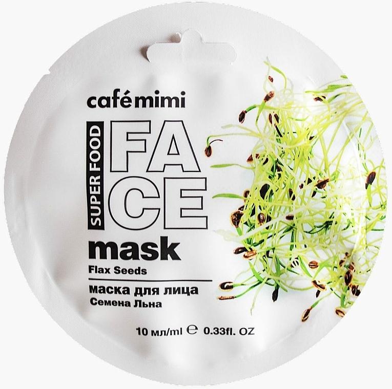 Маска за лице с лен и бадемово мляко - Cafe Mimi Face Mask