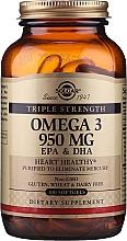 """Парфюмерия и Козметика Хранителна добавка """"Омега-3 EPA & DHA"""", гел капсули - Solgar Triple Strength 950 Mg"""