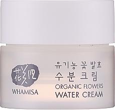 Парфюмерия и Козметика Овлажняващ крем с екстракт от алое и пептиди - Whamisa Organic Flowers Water Cream (мини)
