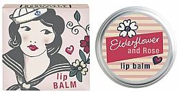 Парфюмерия и Козметика Балсам за устни с аромат на бъз и роза - Bath House Barefoot & Beautiful Elderflower & Rose Lip Balm
