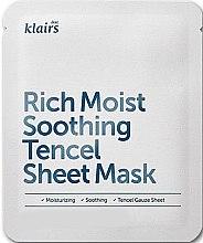 Парфюми, Парфюмерия, козметика Хидартираща памучна маска за лице - Klairs Rich Moist Soothing Tencel Sheet Mask