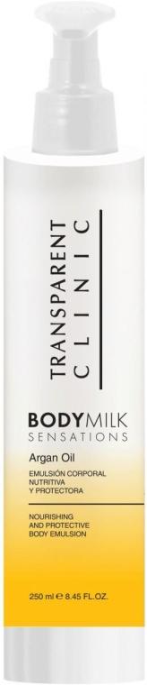 Мляко за тяло с арганово масло - Transparent Clinic Body Milk Sensations argan Oil — снимка N1