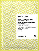Парфюмерия и Козметика Укрепваща памучна маска за лице - Mizon Enjoy Vital-Up Time Soothing Mask