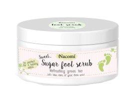 Парфюмерия и Козметика Захарен пилинг за крака със зелен чай - Nacomi Sugar Foot Peeling