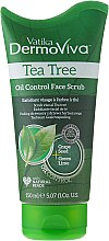 Парфюми, Парфюмерия, козметика Скраб за лице - Dabur Vatika DermoViva Tea Tree Oil Control Face Scrub