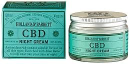 Парфюмерия и Козметика Нощен крем за лице с CBD масло - Holland & Barrett CBD Night Cream