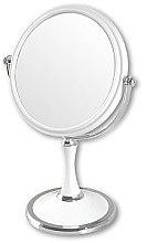 Парфюмерия и Козметика Двустранно козметично огледало, 85642, бяло - Top Choice
