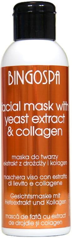 Почистваща маска за мазна кожа с екстракт от бирена мая и колаген - BingoSpa Mask With Brewer's Yeast Extract And Collagen