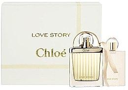 Парфюми, Парфюмерия, козметика Chloe Love Story - Комплект (edp/50ml + b/l/100ml)