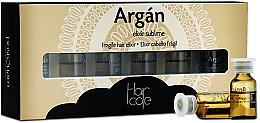 Парфюмерия и Козметика Арганов елексир за коса в ампули - PostQuam Argan Fragile Hair Elixir