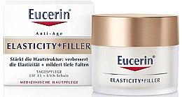 Парфюми, Парфюмерия, козметика Дневен крем за лице против стареене - Eucerin Hyaluron-Filler + Elasticity Day SPF15 Cream