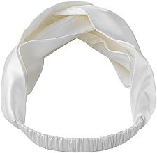 """Парфюмерия и Козметика Лента за глава от естествена коприна, млечна """"Twist"""" - Makeup Hairband Twist Milk"""