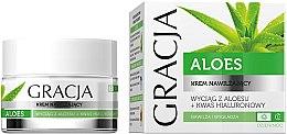 Парфюмерия и Козметика Овлажняващ крем против бръчки с алое и хиалуронова киселина - Gracja Aloe Moisturizing Face Cream