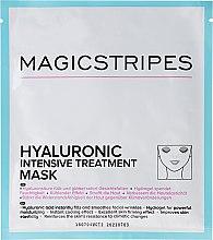 Парфюмерия и Козметика Интензивно хидратираща маска за лице с хиалуронова киселина - Magicstripes Hyaluronic Intensive Treatment Mask