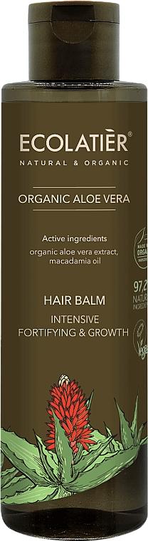 """Балсам за коса """"Интензивно укрепване и растеж"""" - Ecolatier Organic Aloe Vera Hair Balm"""