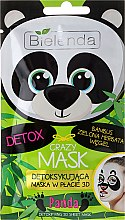 """Парфюми, Парфюмерия, козметика Памучна детокс-маска """"Панда"""" - Bielenda Crazy Mask 3D Panda"""