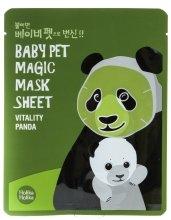 """Парфюми, Парфюмерия, козметика Памучна маска за лице """"Панда"""" - Holika Holika Baby Pet Magic Mask Sheet Vitality Panda"""
