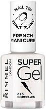 Парфюми, Парфюмерия, козметика Гел-лак за френски маникюр - Rimmel Super Gel French Manicure