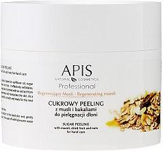 """Парфюми, Парфюмерия, козметика Захарен пилинг за кожата на ръцете """"Мюсли и сушени плодове"""" - APIS Professional Regenerating Muesli Sugar Peeling"""