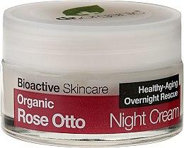 Парфюми, Парфюмерия, козметика Нощен крем за лице с роза - Dr. Organic Rose Night Cream