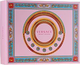 Парфюмерия и Козметика Versace Bright Crystal - Комплект (тоал. вода/50ml + лосион за тяло/50ml + душ гел/50ml)