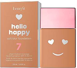 Парфюмерия и Козметика Фон дьо тен с лек озаряващ ефект - Benefit Hello Happy Soft Blur Foundation