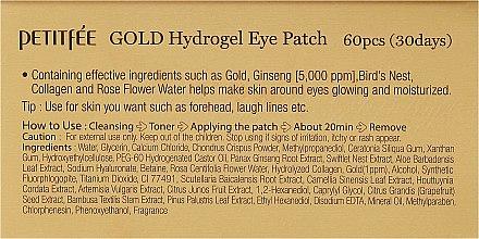 Хидрогелни пачове за очи със златен комплекс +5 - Petitfee&Koelf Gold Hydrogel Eye Patch — снимка N3