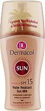 Парфюмерия и Козметика Водоустойчиво слънцезащитно мляко за тяло - Dermacol Water Resistant Sun Milk SPF 15