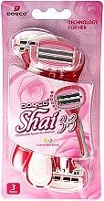 Парфюми, Парфюмерия, козметика Комплект самобръсначки - Dorco Shai 3+3