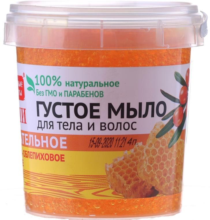 """Гъст сапун за коса и тяло """"Мед и морски зърнастец"""" - Fito Козметик"""