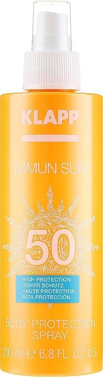 Слънцезащитен спрей за тяло SPF 50 - Klapp Immun Sun Body Protection Spray SPF 50 — снимка N2