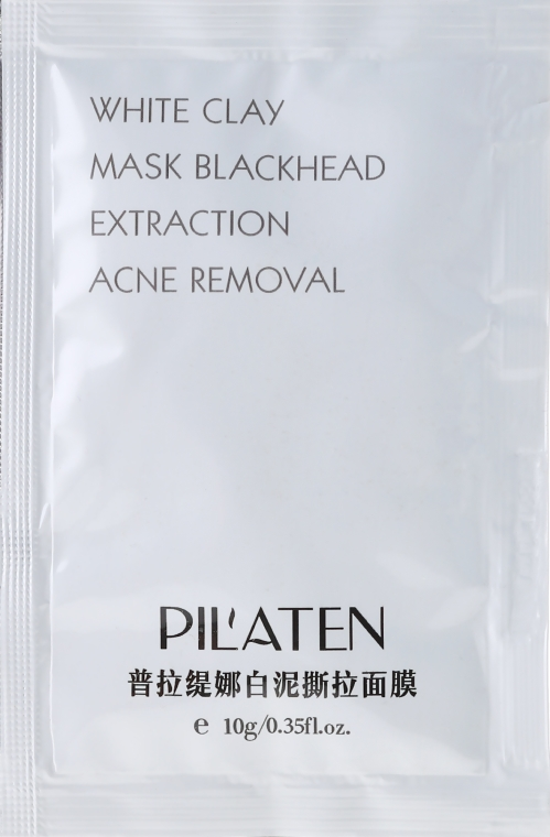 "Маска за лице ""Бяла глина"" - Pil'Aten White Clay Mask Blackhead Extraction Acne Removal (мостра)"