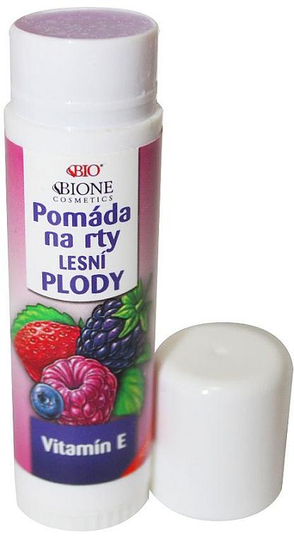 """Балсам за устни """"Горски продове"""" - Bione Cosmetics Organic Lip Balm Forest Fruit — снимка N1"""