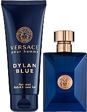Парфюмерия и Козметика Versace Pour Homme Dylan Blue - Комплект (тоал.вода/100ml + душ гел/150ml)