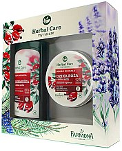 Парфюми, Парфюмерия, козметика Комплект - Farmona Herbal Care Rose (масло за тяло/200ml + мляко за вана/500ml)