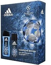 Парфюмерия и Козметика Комплект UEFA - Adidas UEFA Champions League (sh/gel/250ml + deo/spray/150ml)