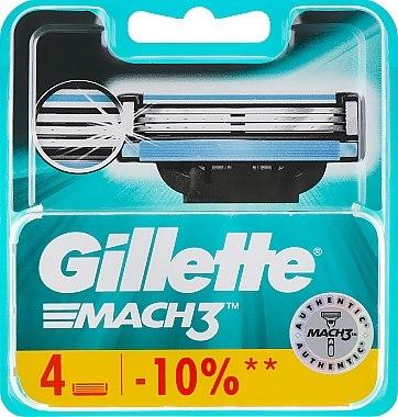 Сменяеми ножчета за бръснене, 4 бр. - Gillette Mach3 — снимка N1