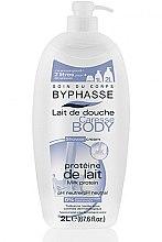 """Парфюмерия и Козметика Душ крем """"Млечен протеин"""" - Byphasse Caresse Shower Cream"""