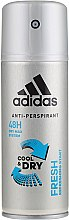Парфюми, Парфюмерия, козметика Дезодорант - Adidas Anti-Perspirant Fresh Cool Dry 48h