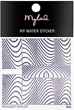 """Парфюмерия и Козметика Стикери за нокти 9 """"Зебра"""" - MylaQ My Water Sticker"""