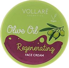 Парфюмерия и Козметика Регенериращ крем за лице с маслиново масло - Vollare Regenerating Olive Oil Face Cream