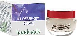 Парфюмерия и Козметика Крем за лице с бъз за чувствителна кожа, ръчно направен - Hristina Cosmetics Handmade Elderberry Cream