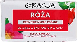 Парфюми, Парфюмерия, козметика Тоалетен сапун с екстракт от роза - Gracja Rose Cream Soap With Rose Extract