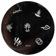 """Парфюмерия и Козметика Щампа за печат за нокти """"RN 00404"""" - Ronney Professional"""