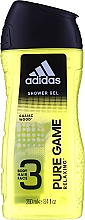 Adidas Pure Game - Комплект (спрей/75ml + душ гел/250ml) — снимка N3
