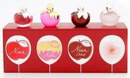 Парфюми, Парфюмерия, козметика Nina Ricci Mini Set - Комплект мини (edt 3x4ml + edp 4ml)