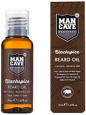 Масло за брадата - Man Cave Blackspice Beard Oil — снимка N1