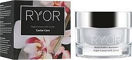 Парфюмерия и Козметика Нощен крем за лице с екстракт от хайвер - Ryor Night Cream With Caviar