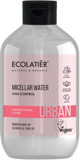 "Мицеларна вода за почистване на грим ""Цвят на орхидеи и роза"" - Ecolatier Urban Micellar Water Age Control"