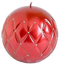 "Парфюмерия и Козметика Декоративна свещ ""Лакирана топка"" бордо, 10см - Artman Florence"